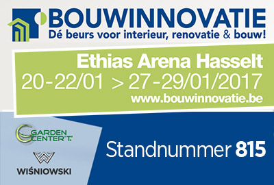 WIŚNIOWSKI en Garden Center 'T' op BOUWINNOVATIE 2017