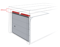 bramy garazowe bramy segmentowe wisniowski nadproze 400mm