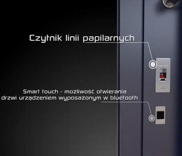 drzwi wejsciowe zewnetrze creo wisniowski kontrola dostepu elektryczny zamek