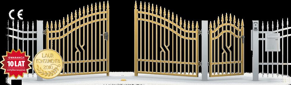 brama dwuskrzydlowa z furtka 10lat CE 01