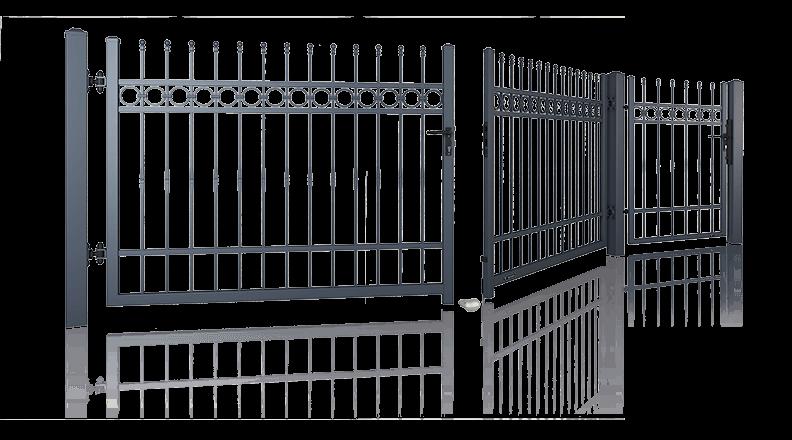 bramy ogrodzeniowe dwuskrzydlowe i furtki wisniowski