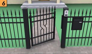 ogrodzenia i bramy posesyjne furtka wisniowski