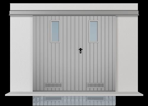 5 brama podwieszana dz okienka kratki