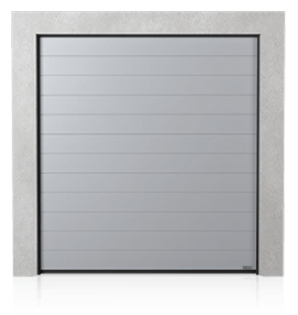 Industrial sectional door with low ribs (N)