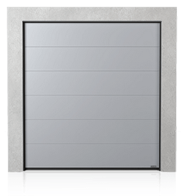 Industrial sectional door with no ribs (G)