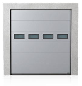 Industrial sectional door with windows A-1