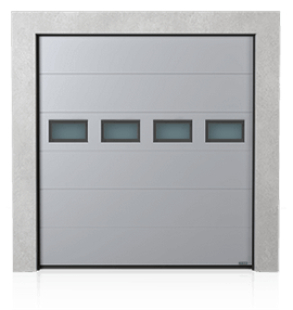 Industrial sectional door with windows A-2