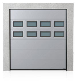 Industrial sectional door with windows A-2 x2