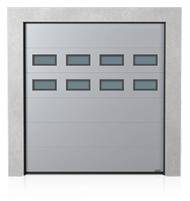 Industrial sectional door with windows A-1 x2
