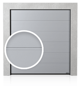 Industrial sectional door with profiled V ribs (V)
