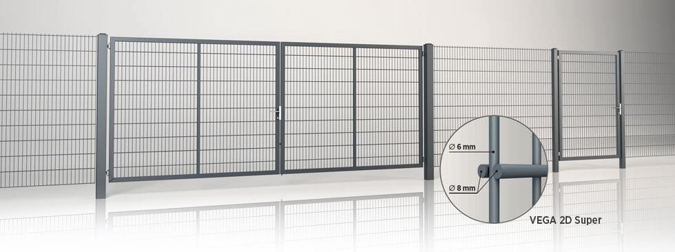 system ogrodzeniowy gardia panel vega 2d super wisniowski