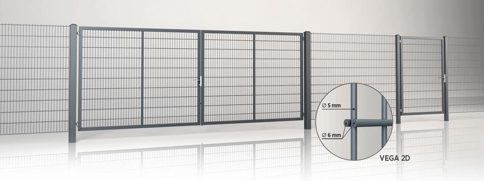 system ogrodzeniowy gardia panel vega 2d wisniowski