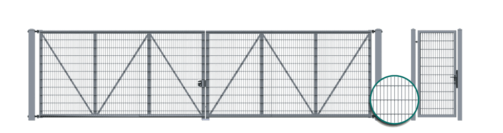brama dwuskrzydlowa vega 2d super