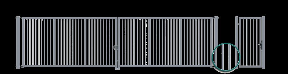 brama dwyskrzydlowa 25x25