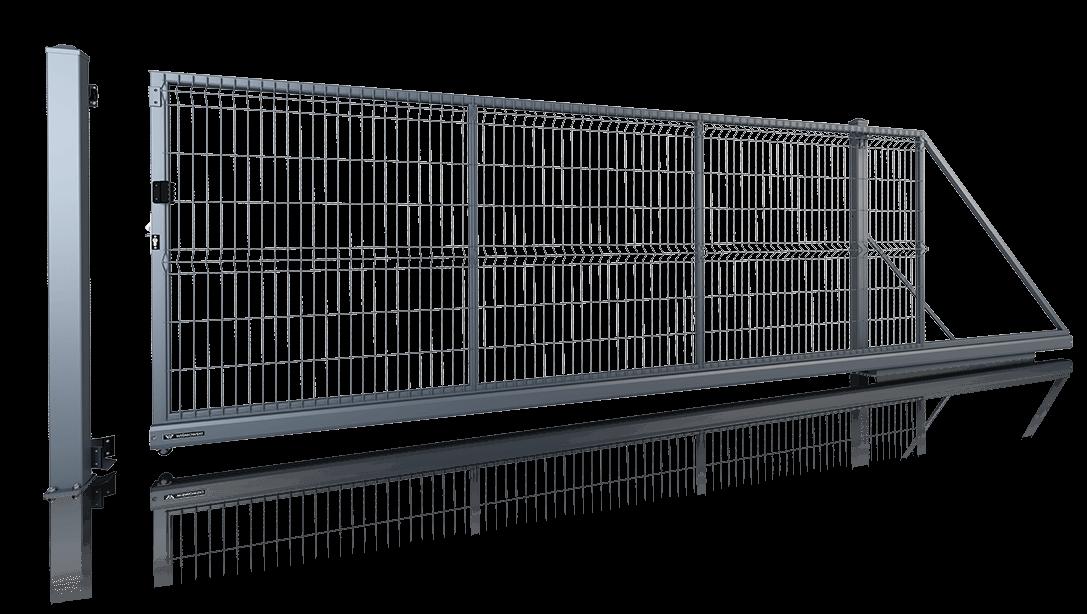 brama przesuwna MODEST reczna wisniowski
