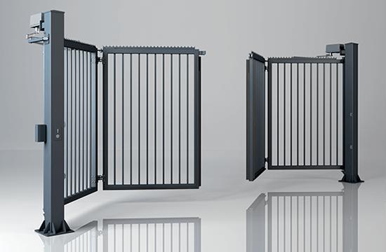 Brama skladana dwuskrzydlowa v king wypelnienie palisadowe 25x25 mm wisniowski
