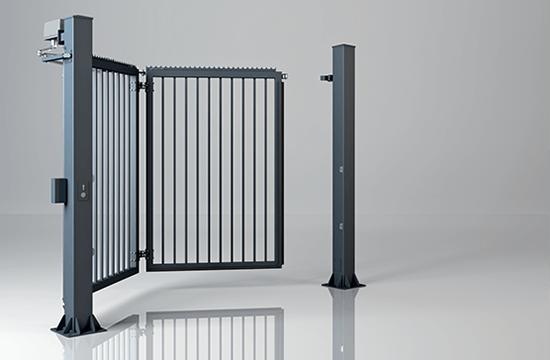 Brama skladana jednoskrzydlowa v king wypelnienie palisadowe 25x25 mm wisniowski